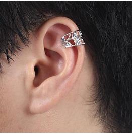 Silver Rose Flower Ear Wrap / Ear Cuff