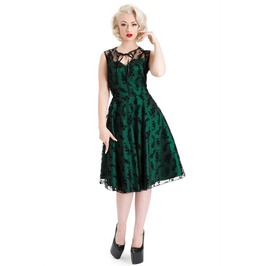 Voodoo Vixen Emerald Lace Flare Dress