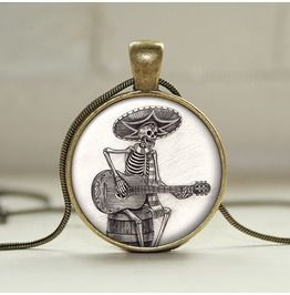 Day Dead Guitarist Pendant