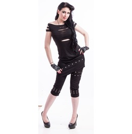 Necessary Evil Erinys Slashed Black Top