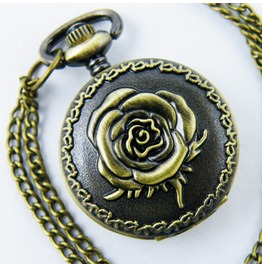 Copper Rose Women's Quartz Pocket Watch