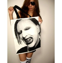 Marilyn Manson Canvas Cotton Tote Bag