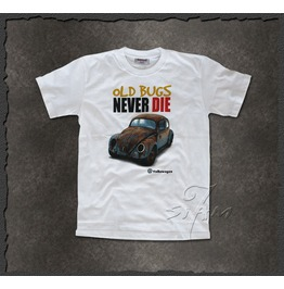 """Old Bugs Never Die"" T Shirt Volkswagen Men"