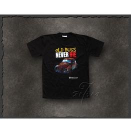 """Volkswagen """"Old Bugs Never Die"""" Retro T Shirt Men"""
