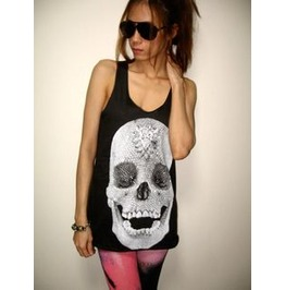 Diamond Skull Goth Punk Pop Rock Tank Top