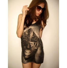 Lady Gaga Electronic Pop Tank Top M