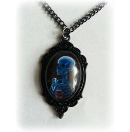 Black Necklace Skeleton