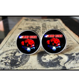 Limp Bizkit Hat/Mic *New* Logo Cuff Links Men, Weddings,Grooms, Groomsmen,Gifts,Dads,Graduations