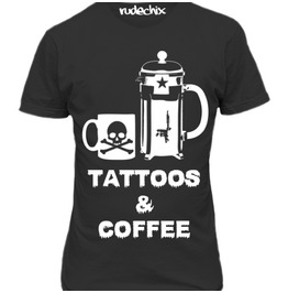 Tattoos Coffee Fitted Tee