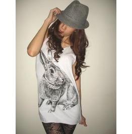 Bunny Rabbit Cute Animal Pop Rock Tank Top
