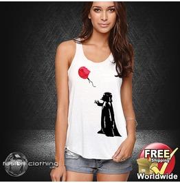 Fc0043 Ladies Girls Womans Vader Lost Balloon Star Wars Cotton Summer Vest Tank Top Fashion