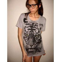 Tiger animal wave punk rock wolf unisex t shirt m t shirts