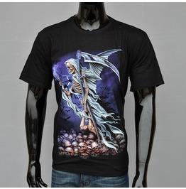 Angel Death Printed Black Short Sleeve T Shirt