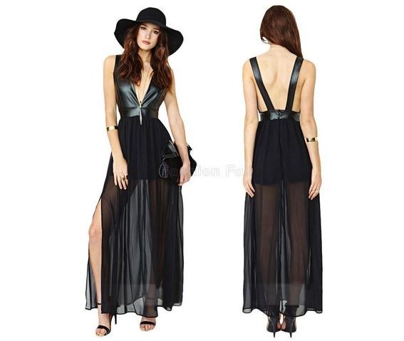 sexy_backless_p_u_leather_patchwork_black_chiffon_dress_dresses_4.JPG