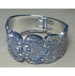 Vintage Cuff Bangle Bracelet Modern Fashion Jewelry Diamond Dust Glitter #7