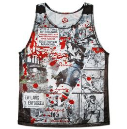 Brand Planet Apes Blood Spattered Movie Tank Top Action Vest Men