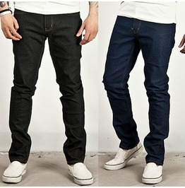Special Price Simple Narrow Stitch Accent Slim Denim Jeans 110 (Blue)