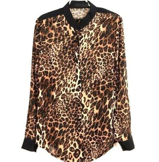2605b68f486c Cool Black Leopard Print Shirt   RebelsMarket
