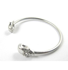 Punk Style Rock Skull Metal Bracelet Cuff Wrist Cool Vintage Bangle Bangle Antique Silver Color