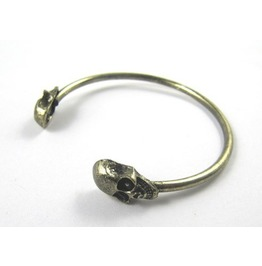 Punk Style Rock Skull Metal Bracelet Cuff Wrist Cool Vintage Bangle Bangle Bronze Color