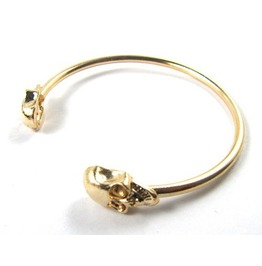 Punk Style Rock Skull Metal Bracelet Cuff Wrist Cool Vintage Bangle Bangle Gold Color