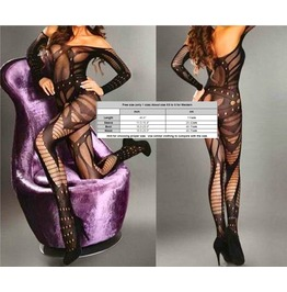 Sexy Cyber Babe Body Stocking Lingerie One Size