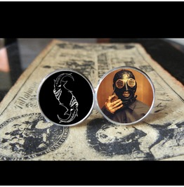 Slipknot Sid Wilson *New Mask* Logo Cuff Links Men, Weddings,Grooms, Groomsmen,Gifts,Dads,Graduations