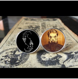 Slipknot Jim Root *New Mask* Logo Cuff Links Men, Weddings,Grooms, Groomsmen,Gifts,Dads,Graduations