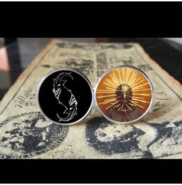 Slipknot Craig Jones *New Mask* Logo Cuff Links Men, Weddings,Grooms, Groomsmen,Gifts,Dads,Graduations