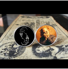 Slipknot Clown *New Mask* Logo Cuff Links Men, Weddings,Grooms, Groomsmen,Gifts,Dads,Graduations