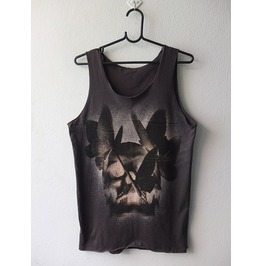 Butterfly Skull Pop Art Fashion Punk Rock Tank Top M