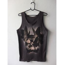 Butterfly Skull Pop Art Fashion Punk Rock Tank Top M