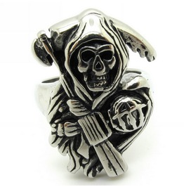 Sons Anarchy Solid Stainless Silver Ring