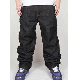 Men's Hip Hop Graffiti Print Baggy Jeans Denim Pants J17