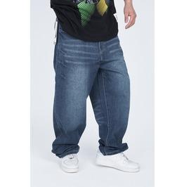 Men's Hip Hop Graffiti Print Baggy Jeans Denim Pants J18
