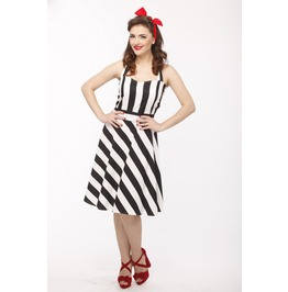 Black White Stripe Pin Dress