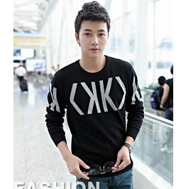 Fashion Round Collar Men Knit Sweater 1434