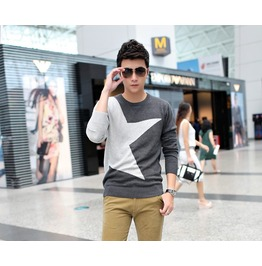 Fashion Round Collar Men Knit Sweater 1435