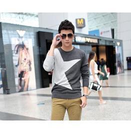 Fashion Round Collar Men Knit Sweater 1435