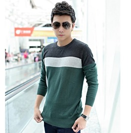 Fashion Round Collar Men Knit Sweater 1436