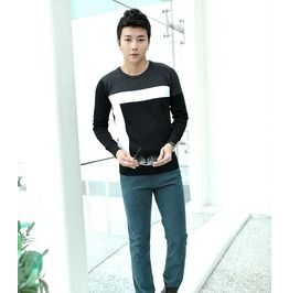 Fashion Round Collar Men Knit Sweater 1436b