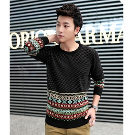 Fashion Round Collar Men Knit Sweater 1437a
