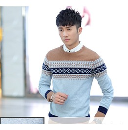Fashion Round Collar Men Knit Sweater 1438b