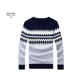 Fashion Round Collar Men Knit Sweater 1439