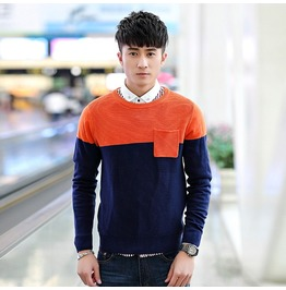 Fashion Round Collar Men Knit Sweater 1440a