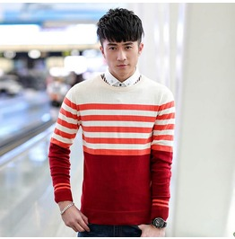 Fashion Round Collar Men Knit Sweater 1441