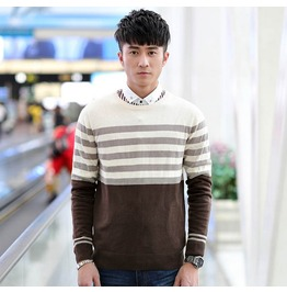 Fashion Round Collar Men Knit Sweater 1441a