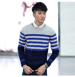 Fashion Round Collar Men Knit Sweater 1441b