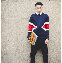 Geometric Style Men Fashion Sweatshirt