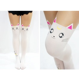 Artemis Cats Sailor Moon Tail Lolita Tights White